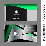 modern business card template  | Shutterstock .eps vector #402877192