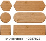 wooden web buttons and banners | Shutterstock .eps vector #40287823