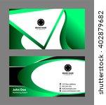 business card template  | Shutterstock .eps vector #402879682