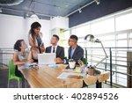 team of successful business... | Shutterstock . vector #402894526