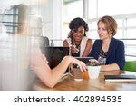 team of successful business... | Shutterstock . vector #402894535