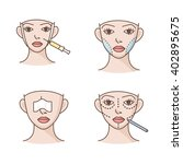 plastic surgery vector icons   Shutterstock .eps vector #402895675