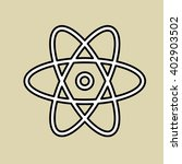 atom icon design   vector... | Shutterstock .eps vector #402903502