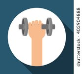 fitness and gym design  vector... | Shutterstock .eps vector #402904888