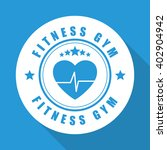 fitness and gym design   vector ... | Shutterstock .eps vector #402904942