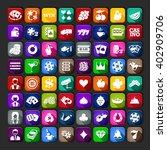 casino icons simple set. casino ...