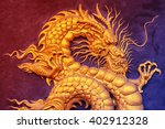 chinese golden dragon in color... | Shutterstock . vector #402912328