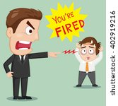 angry boss fired a male... | Shutterstock .eps vector #402919216
