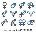 sexual relation symbols vector... | Shutterstock .eps vector #402921052