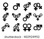 sexual relation symbols raster... | Shutterstock . vector #402924952