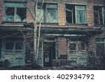 destroyed building with broken... | Shutterstock . vector #402934792