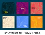 set of abstract cards with... | Shutterstock .eps vector #402947866