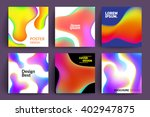 set of abstract cards with... | Shutterstock .eps vector #402947875