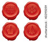 vector sealing wax happy new... | Shutterstock .eps vector #40295059