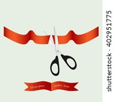 grand opening with ribbon and... | Shutterstock .eps vector #402951775