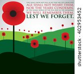 remembrance day card in vector... | Shutterstock .eps vector #402953452