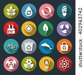 set of eco icons in flat style... | Shutterstock . vector #402963742