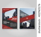 red black vector annual report... | Shutterstock .eps vector #402965176