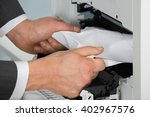 close up of businessman hand... | Shutterstock . vector #402967576