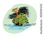 amphibian frog girl   Shutterstock .eps vector #402969142