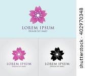 flower logo design   Shutterstock .eps vector #402970348