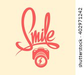 smile camera poster | Shutterstock .eps vector #402971242