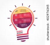 light bulb vector infographic... | Shutterstock .eps vector #402976345