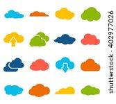 cloud shapes collection. cloud...