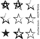 grunge star icon. | Shutterstock .eps vector #402978436