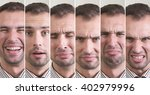 man with different facial... | Shutterstock . vector #402979996