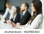 business people working... | Shutterstock . vector #402980302