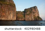 limestone rocks in thailand...   Shutterstock . vector #402980488