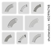 set of monochrome icons with... | Shutterstock .eps vector #402996748