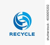 abstract recycling  logo.... | Shutterstock .eps vector #403005202