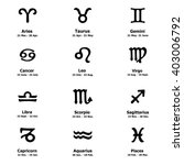 Zodiac Icons. Horoscope Set ...