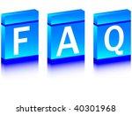 faq of boxes   Shutterstock .eps vector #40301968
