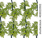 seamless vector leaf pattern.... | Shutterstock .eps vector #403023502