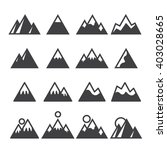 mountain icons set | Shutterstock .eps vector #403028665