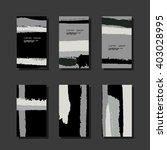 set of paper business card... | Shutterstock .eps vector #403028995