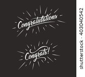 congratulations. hand lettering ... | Shutterstock .eps vector #403040542