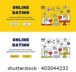 flat line icons design of... | Shutterstock .eps vector #403044232