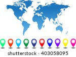 collection of 3d map pointers... | Shutterstock .eps vector #403058095