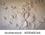 Flowers Carved Sandstone Walls.
