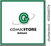 alphabetical comic logo design... | Shutterstock .eps vector #403068376