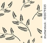 leaves seamless pattern and... | Shutterstock .eps vector #403079335