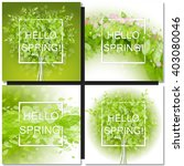set of fresh spring green tree... | Shutterstock .eps vector #403080046