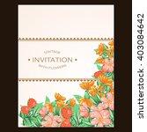 vintage delicate invitation... | Shutterstock .eps vector #403084642