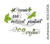 handwritten words   vegan  ...   Shutterstock .eps vector #403116526