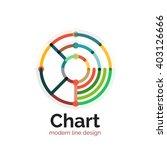 thin line chart logo design....