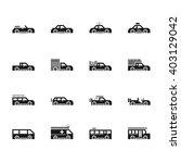 cars vecter black icon set on... | Shutterstock .eps vector #403129042